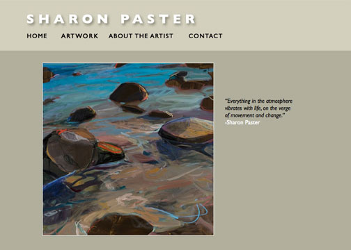A portfolio of oil paintings and videos by a Marin-based artist.