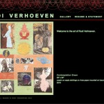 The web site of Marin-based artist Rudi Verhoeven needed to reflect the look and feel of his collages.